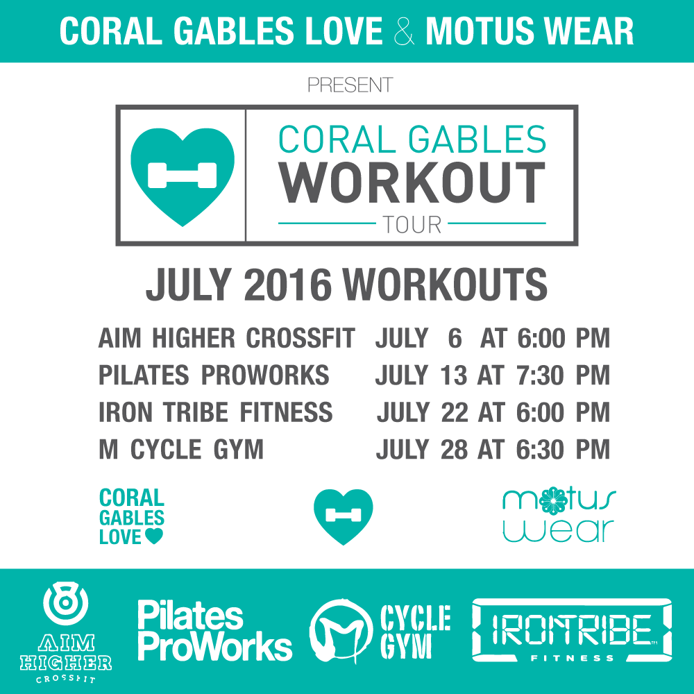 Coral Gables Workout Tour July 2016 Coral Gables Lovecoral Gables Love