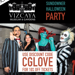 Vizcaya Sundowner Halloween Party Discount Code. Click to read more or pin and save for later! Miami Halloween | Viscaya | Coral Gables Halloween Discount Code
